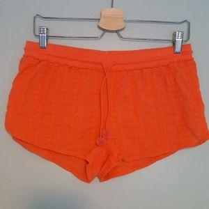 Victoria's Secret Coral Embellished Cotton Shorts